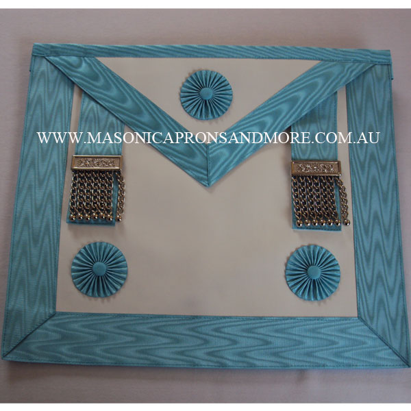 Masonic Craft Master Mason Apron with Pocket (Lambskin), Collar, Jewel,  Regalia Case(Hard) & Gloves Set (5105-H)