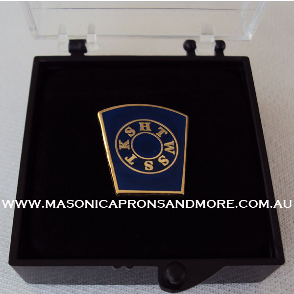 Masonic Regalia Mark Provincial Undress Apron(Lambskin), Collar, Jewel,  Regalia Case(Hard)(Small), (Tie Pin, Clip & Cufflinks Set), Tie & Gloves  Set